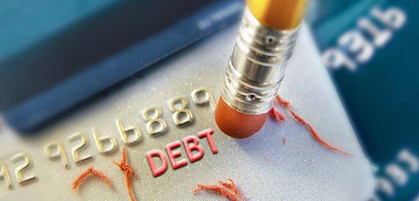 erasing debt on card