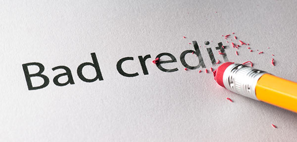 bad credit written on paper