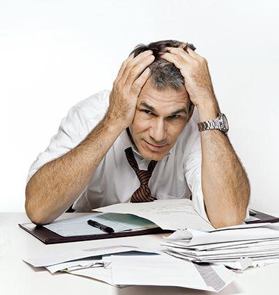 man filing bankruptcy